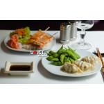 Bento gyoza et brochettes de saumon